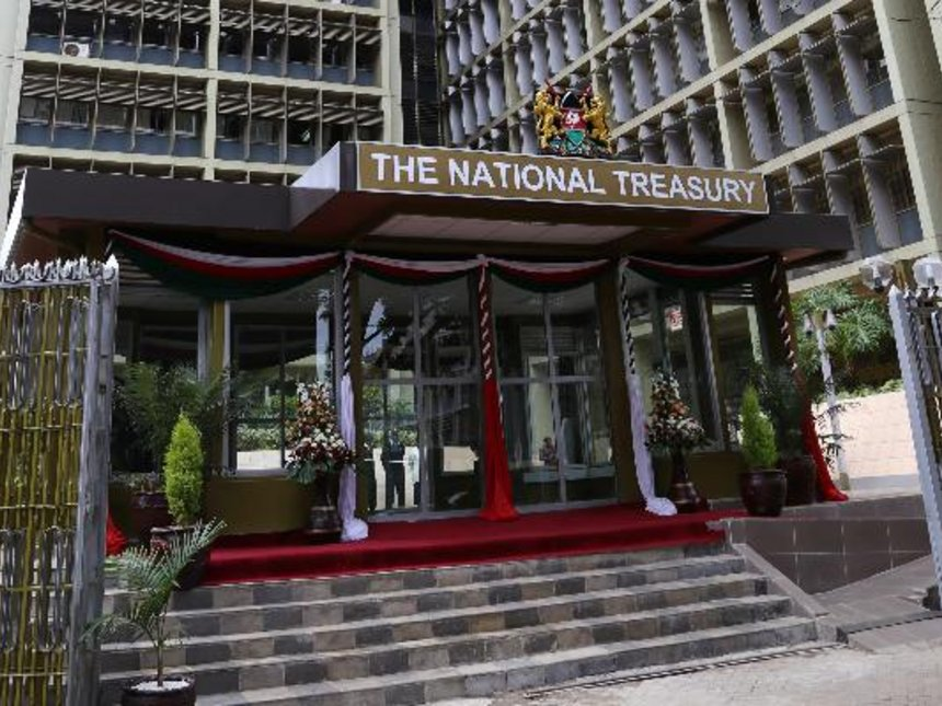 The National Treasury Building in Nairobi Concerns As Kenya's Public Debt Crosses The Record Sh4.5 Trillion Mark