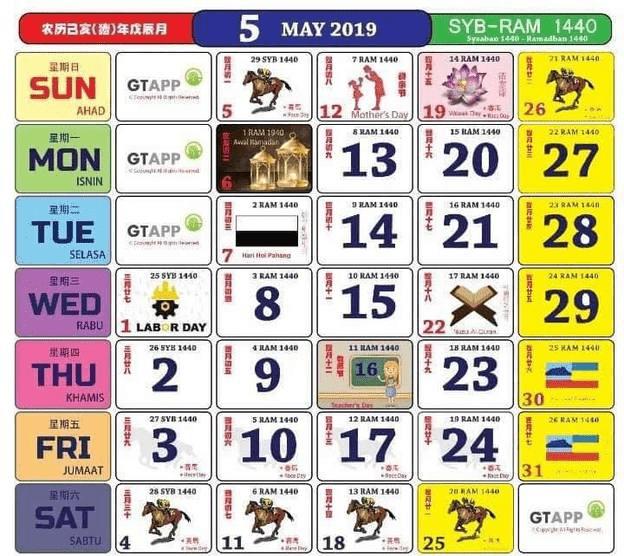KALENDAR KUDA 2019 antara kalendar paling popular dan ramai orang cari . Ini termasuklah diri mummy juga hehe. Kalendar kuda ini, anatara kalendar yang sangat lengkap dengan cuti umumnya, cuti sekolahnya. Mak dan abah mummy pun sukakan kalendar kuda juga, sebab tarikh atau nombornya agak besar. Senang mereka lihat dan nampak !
