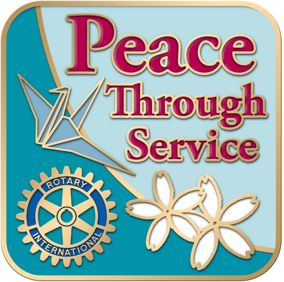 Rotary Club International Theme 2012-2013 Logo hi resolution peace through service lapel pin embossed