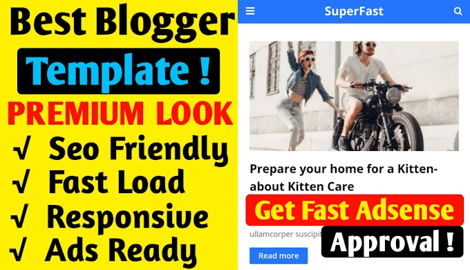 Best Premium Blogger Template For Free 2020 | All Features |