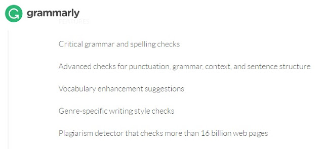 Features of Grammarly