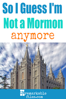 After almost 20 years of comfortably calling myself a 'Mormon,' I'm not doing that anymore. Come read my story about why I'm no longer 'Mormon,' and why I'd rather have you call me a 'Latter-day Saint' instead!   #mormon #latterdaysaint #lds #jesus #christian #religion #unremarkablefile