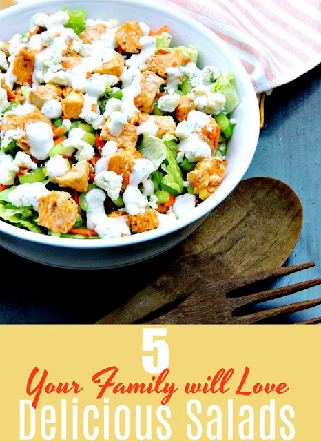 5 Salads Your Family Will Love to Eat Collage