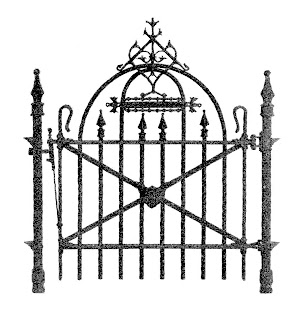 Wrought Iron Gate Fence 35413504 in addition Monaco Metal Driveway Gates further 1073374135 moreover  additionally Free Antique Graphic For Halloween. on wrought iron fence designs