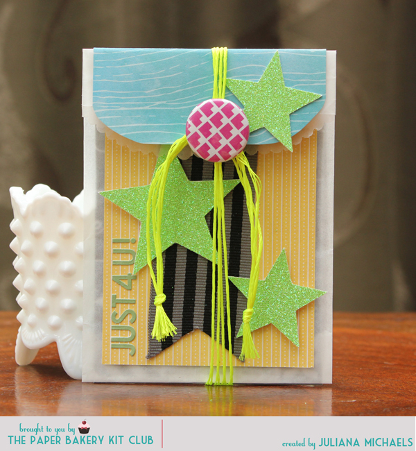 Paper Baker June Scrapbook Kit  Gift Card Holder by Juliana Michaels
