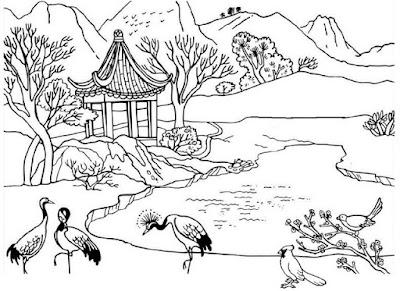 Gambar pemandangan flora dan fauna
