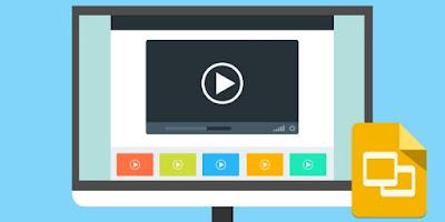 cara menambahkan video di google slide