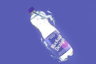 Mockup psd botol air gratis - kanalmu
