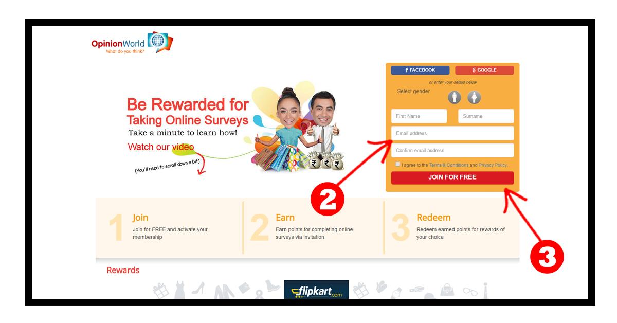 OpinionWorld Survey: Grab Free Paypal Cash & Flipkart