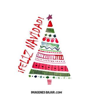 Imágenes de Feliz Navidad para desear Felices Fiestas Bonita tarjeta con árbol navideño