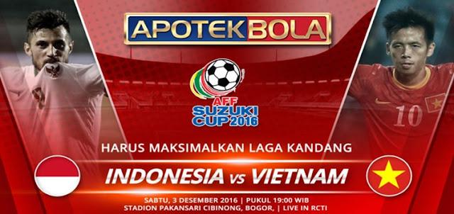 Prediksi Pertandingan Indonesia vs Vietnam 3 Desember 2016