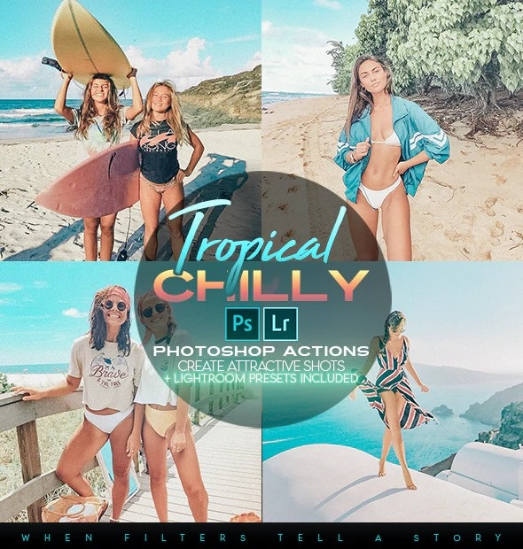Tropical Chilly Photoshop Actions + LR Presets 28231136