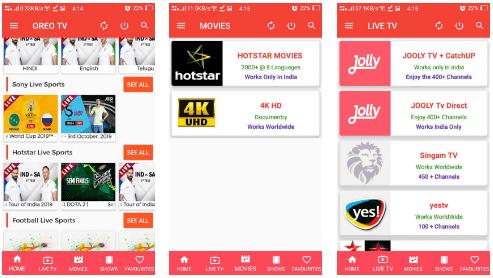 تحميل تطبيق  Oreo TV APK لمشاهدة قنوات العالم اخر اصدار