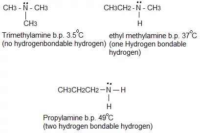 hydrogen bonding on boiling points