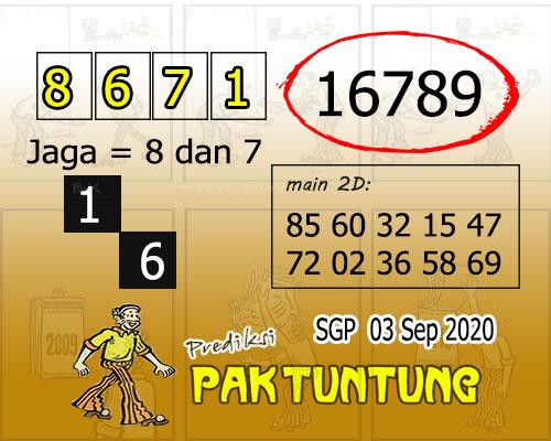 Pak Tuntung SGP Kamis 03 September 2020