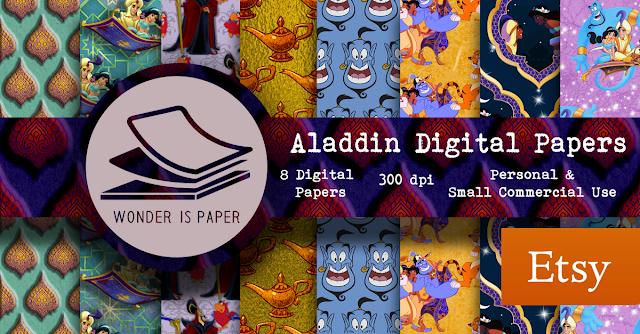 Aladdin Papeles digitales: Etsy