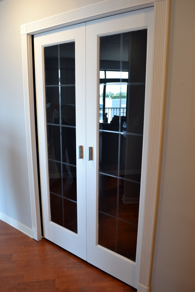 New Apartment tour: Double doors to the office.