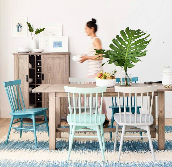 Beach Blue Weathered Wood Dining Room from Target
