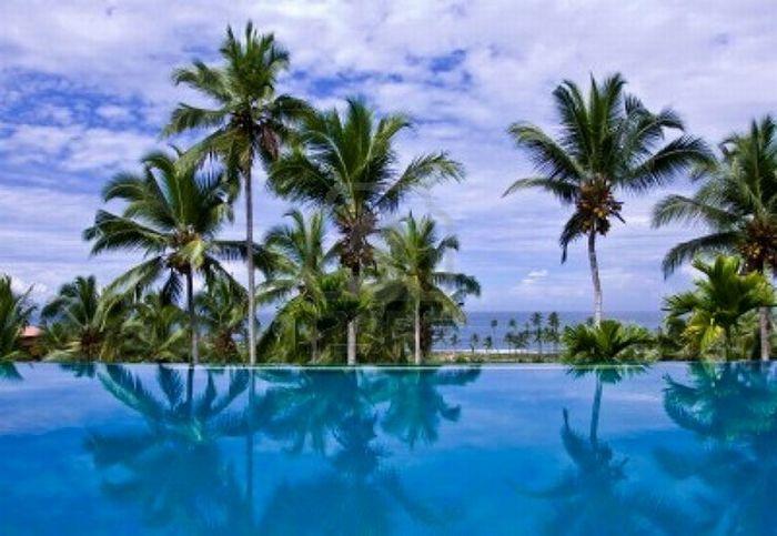 Alberca o piscina infinita