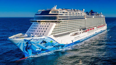 Norwegian Bliss of Norwegian Cruise Line to sail from New York during the winter sailing to the southern caribbean and FLorida and the Bahamas