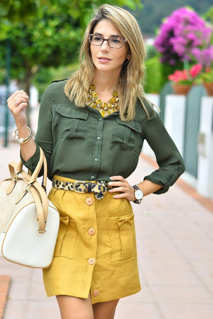 Ma petite by Ana con falda honey color amarillo mostaza de La Bocoque