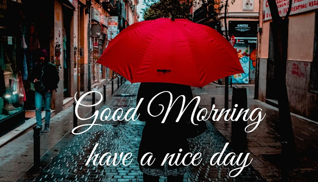 Good Morning Have a Blessed and nice day Rainy Day image