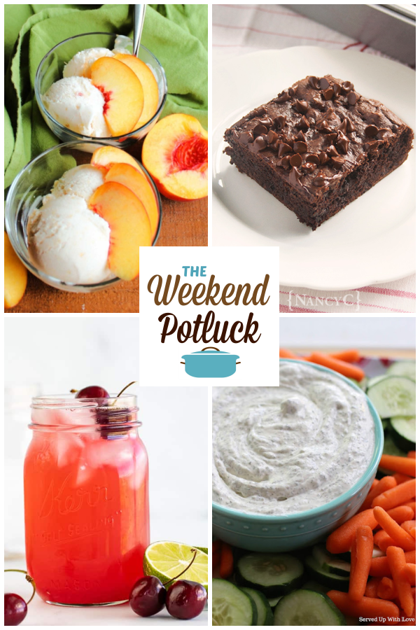A virtual recipe swap with 4-Ingredient Peach Ice Cream, Chocolate Pudding Snack Cake, Fresh Cherry Limeade, Garden Fresh Dill Dip and dozens more!