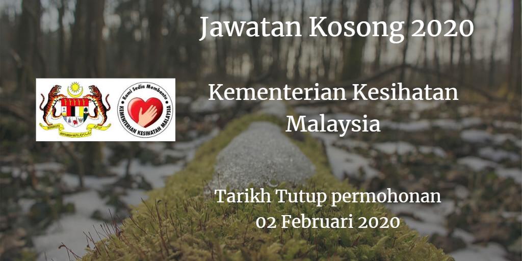 Jawatan Kosong KKM 02 Februari 2020
