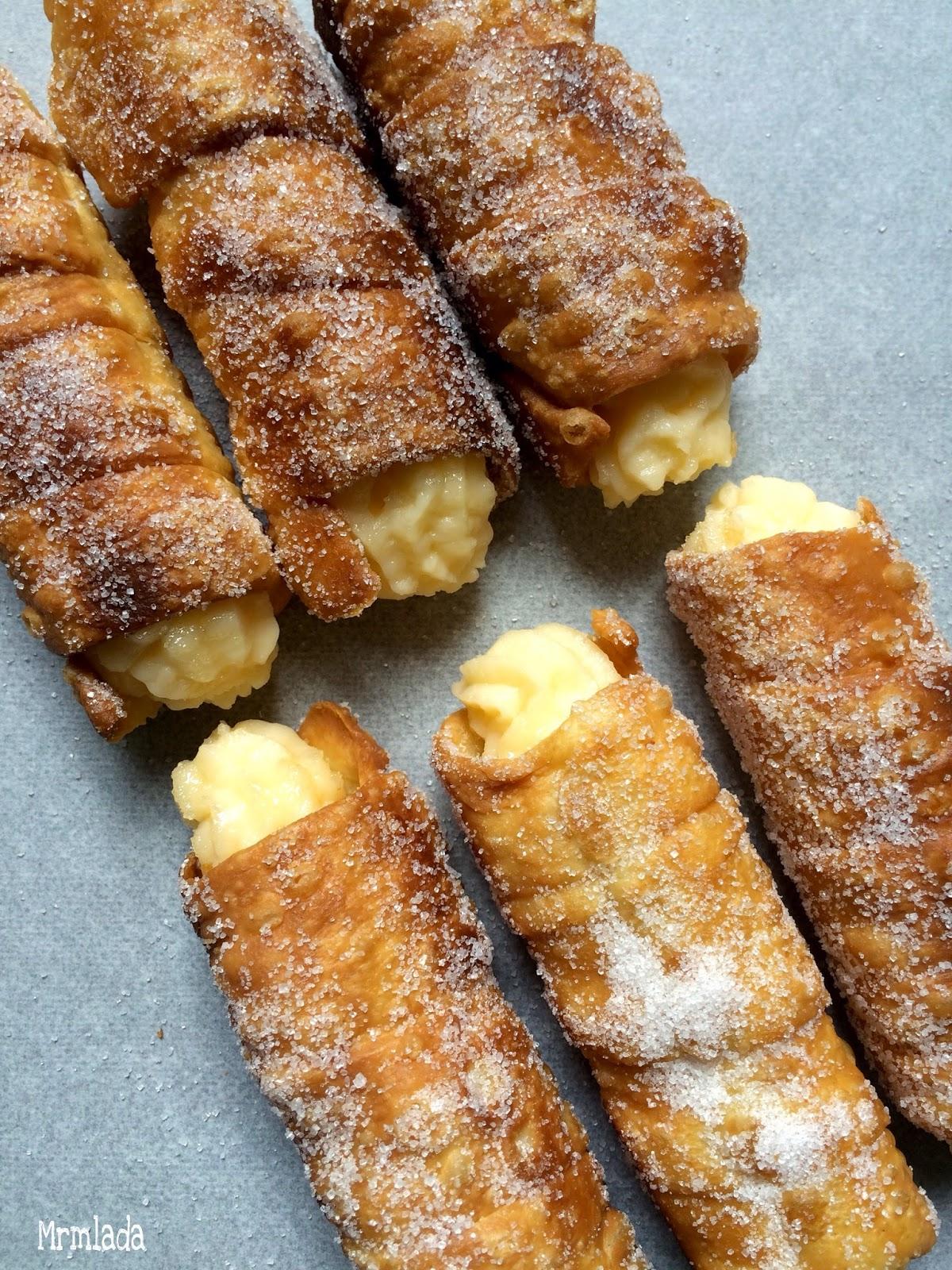 Canutillos de Bilbao con crema pastelera  Reto Reposteras