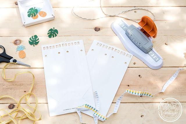 DIY-Papiertüten als Blumenvasen