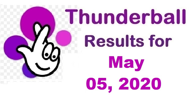 Thunderball Results for Tuesday, May 05, 2020