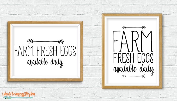 Farm Fresh Eggs Printable