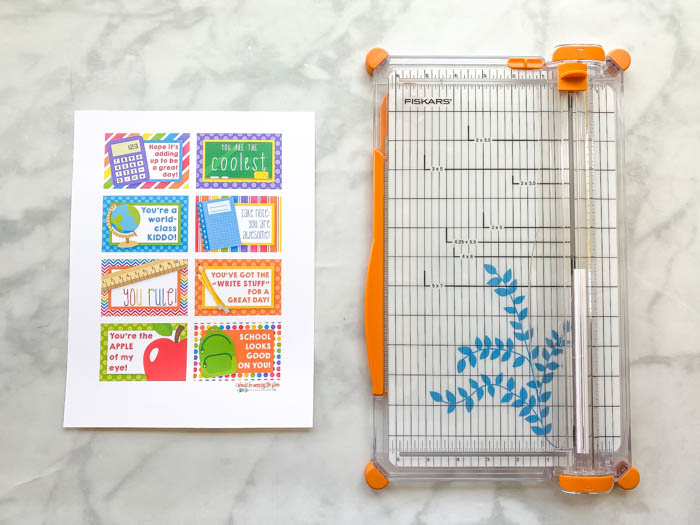 Printable Lunch Notes