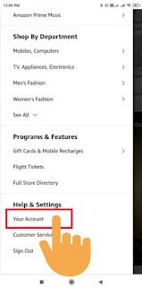 hide orders on amazon app
