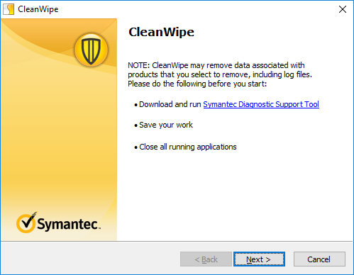 CleanWipe Tool for Symantec Antivirus