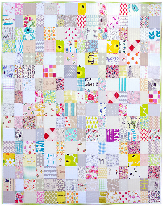 A Scrap Buster Baby Quilt - A Finished Quilt | Red Pepper Quilts 2015