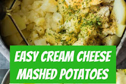 Easy Cream Cheese Mashed Potatoes #potato #potatoes #recipe #dinner #recipes