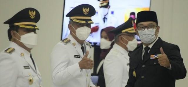 H Jeje Wiradinata dan H Ujang Endin Indrawan Dilantik Menjadi Bupati Dan Wakil Bupati Pangandaran oleh Gubernur Jawa Barat