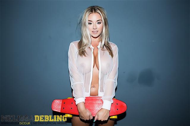 Melissa Debling skater girls white transparent jacket