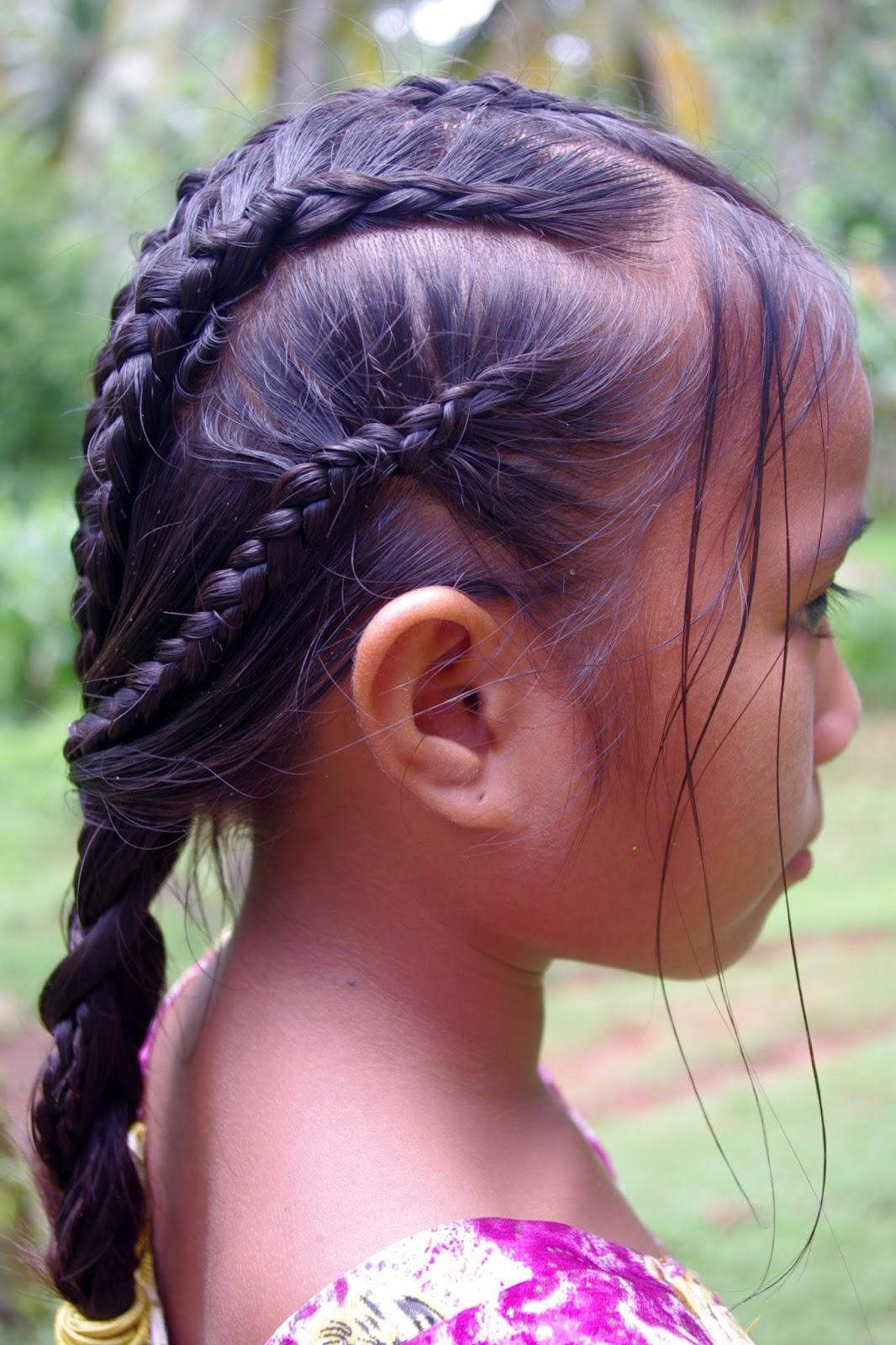 Braids & Hairstyles for Super Long Hair: Micronesian Girl~ Multi-Dutch Braids