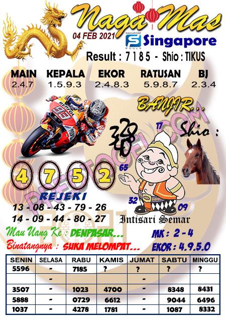 Syair Sgp Nagamas Kamis 04 Februari 2021
