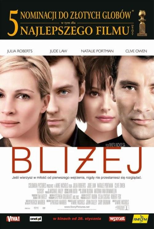 "Plakat filmu ""Bliżej"" (CLOSER)"