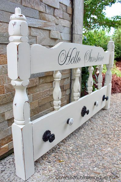 http://www.hometalk.com/4587780/painted-furniture-headboard-to-coat-organizer-upcycle