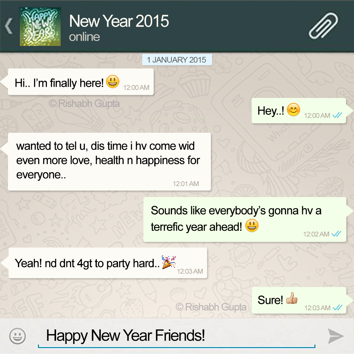 Whatsapp Profile DP- Happy New Year 2015