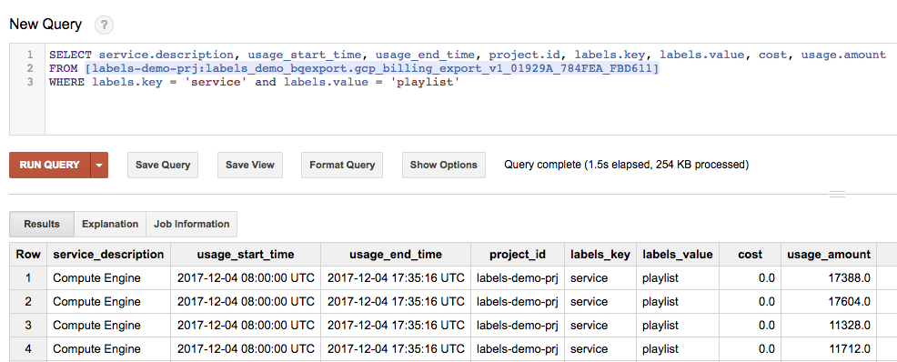 Use labels to gain visibility into GCP resource usage and