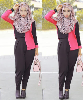 model hijab casual