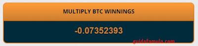Kekalahan tertinggi saya di multiply freebitcoin