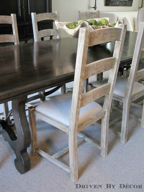 What Kind Of Fabric For Dining Room Chairs Pottery Barn Chair Covers Megan Design Ideas Mixed Seating Driven By Decor Our Side Are Simple Ladderbacks From Homegoods That Have The Type Seat Can Be Unscrewed An Easy Change Out If They Get Stained
