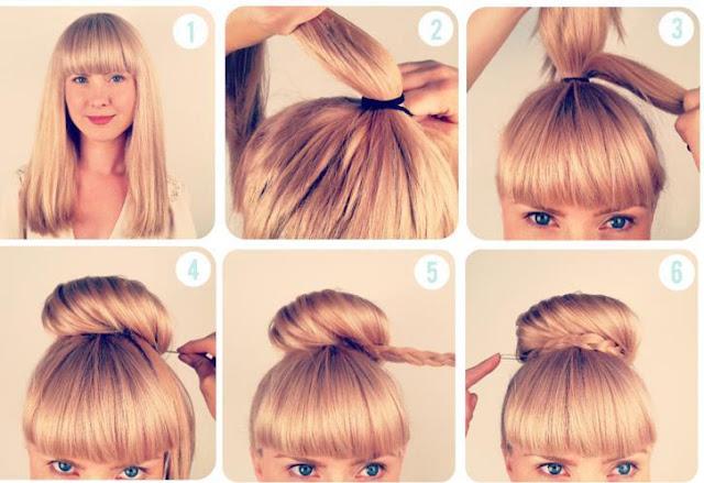 Coiffure Facile Sur Cheveux Court Simple Et Rapide Coiffure Pour