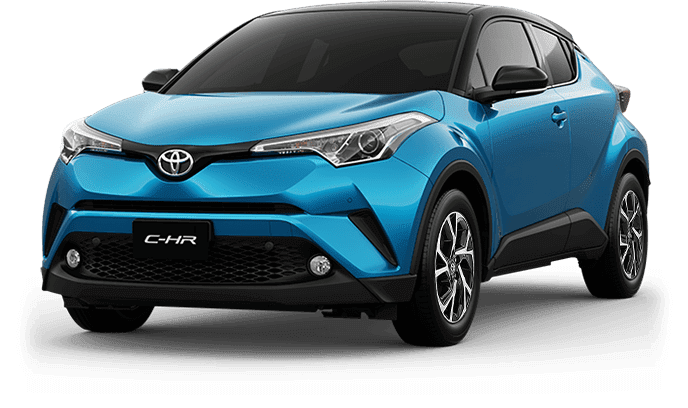 Toyota C-HR Blue Metallic With Sporty Black Roof